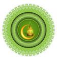 ramadan greeting ornament pattern vector image vector image