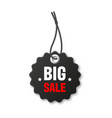 realistic black price tag special offer or vector image