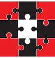 red and black jigsaw vector image vector image