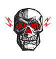 rock and roll forever young hand-drawn lettering vector image vector image