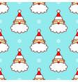 santa claus head in snow seamless pattern vector image vector image