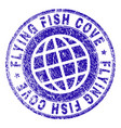 scratched textured flying fish cove stamp seal vector image