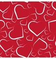 Seamless pattern with white hearts on red vector image vector image