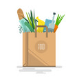 shopping bag filled with vegetables vector image