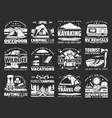 sport travel and active leisure icons vector image