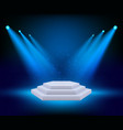 spot lighting podium theatre studio awards vector image