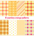 summer orange seamless patterns set cute vector image