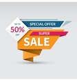 super sale banner special offer label vector image vector image