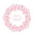 tender pastel rosy color sakura flowers wreath vector image vector image