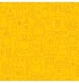 Thin Line Holiday Christmas Yellow Seamless vector image vector image