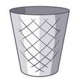 trash bin icon cartoon style vector image