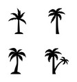 tropical trees outline vector image