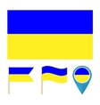 Ukrainecountry flag vector image vector image
