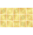 vintage sun burst ray set on golden luxury metal vector image