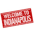 welcome to indianapolis stamp vector image vector image