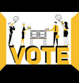 word concept vote and people doing promotional vector image