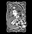 x9art beauty black character clip art vector image vector image