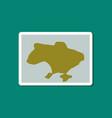 paper sticker on stylish background map of ukraine vector image