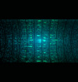 abstract cyberspace bg digital binary code screen vector image