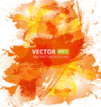 Abstract orange watercolor background vector image vector image