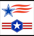 american decorative star symbols set vector image vector image