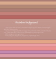 banner with colored horizontal stripes in pastel vector image vector image