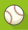 baseball sport ball isolated icon vector image