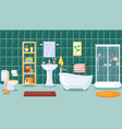 bathroom interior stylish central vector image