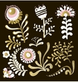 Big set of floral graphic design elements vector image vector image