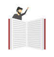 businessman with open book literature vector image