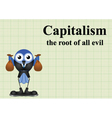Capitalism root of evil vector image vector image