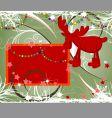 Christmas theme with deer vector image vector image