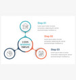 circle infographics template with three elements vector image vector image