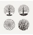 Circle trees set Pattern vector image
