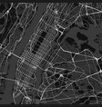 city map of new york in black and white vector image