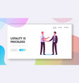 customer relationship management landing page vector image vector image