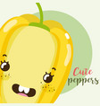 cute peppers kawaii cartoon vector image vector image