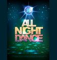 disco ball background poster all night dance