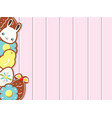 easter background with cookies on pink wooden desk vector image vector image