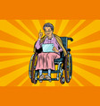 elderly woman disabled person in a wheelchair vector image