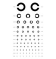 eye test chart vector image vector image