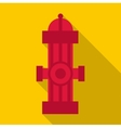 Fire column icon flat style vector image vector image