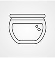 fish bowl icon sign symbol vector image