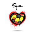 flag of spain in the form of a heart vector image