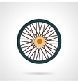 Flat color icon for bike wheel vector image