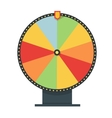 Fortune wheel in flat style Blank template Game vector image