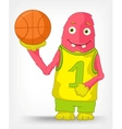 Funny Monster Basketball vector image vector image