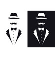 gentleman symbols avatar icon male sign vector image