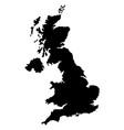 great britain british united kingdom england map vector image
