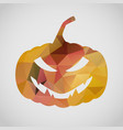 halloween card with sly pumpkin of triangle vector image vector image